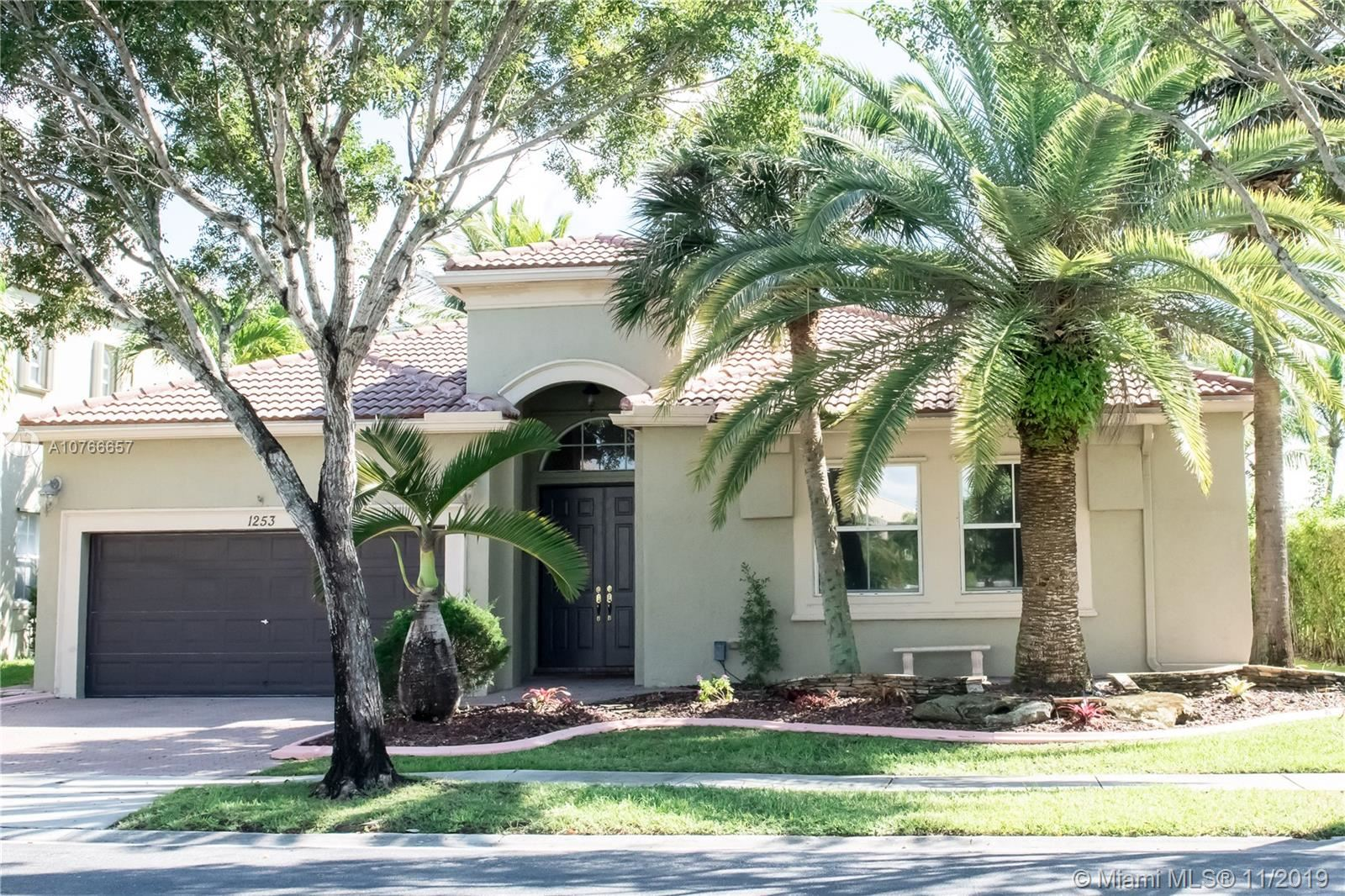 1253 SW 167th Ave, Pembroke Pines, FL 33027 - MLS#: A10766657