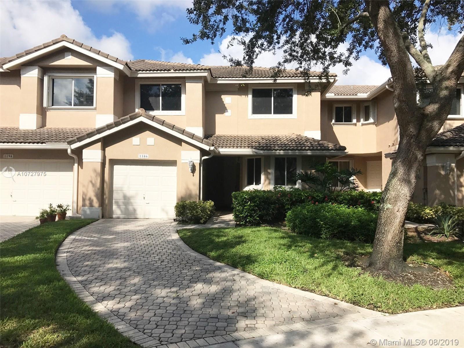 1186 SW 158th Way, Pembroke Pines, FL 33027 - MLS#: A10727975