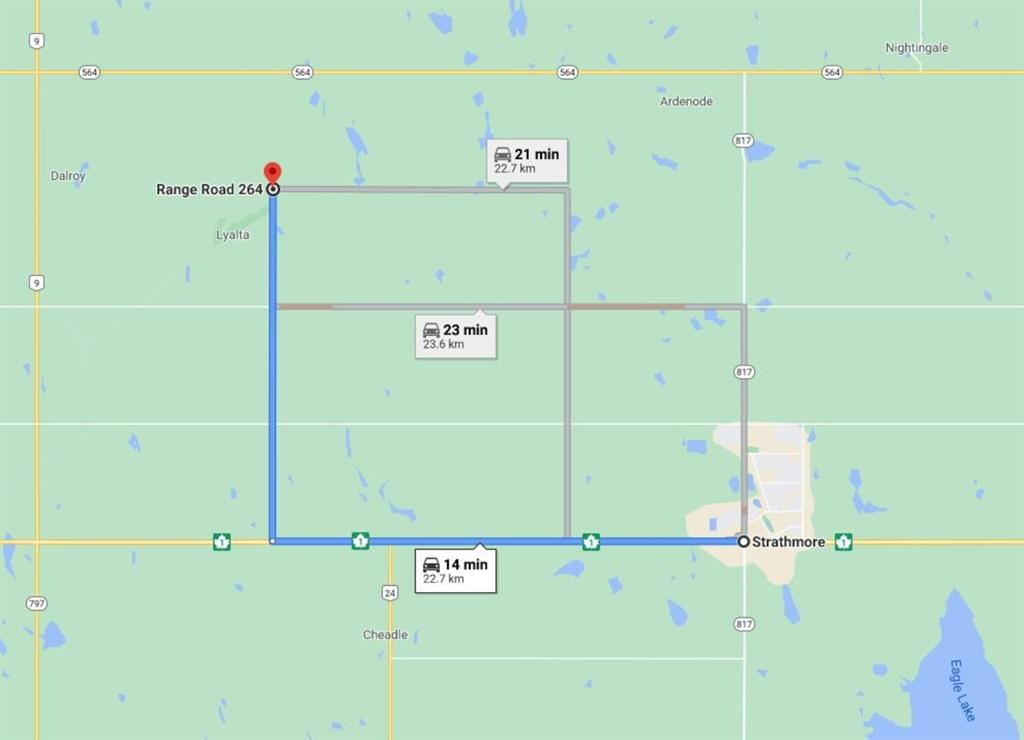 Photo of W4R26T25S21QSW Range Road 264 Range, Wheatland County, AB T0J 1Y0 (MLS # A1050429)