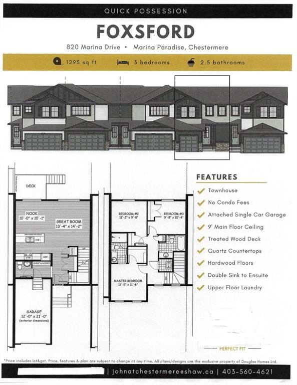 Photo of 820 Marina Drive, Chestermere, AB T1X 1Y7 (MLS # A1099763)