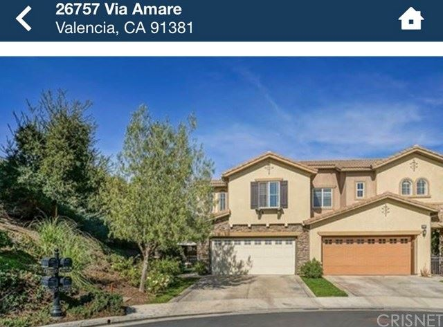 Photo for 26757 Via Amare, Valencia, CA 91381 (MLS # SR20191043)