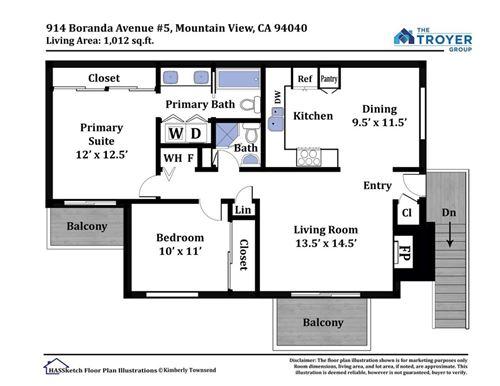 Tiny photo for 914 Boranda Avenue #5, Mountain View, CA 94040 (MLS # ML81863495)