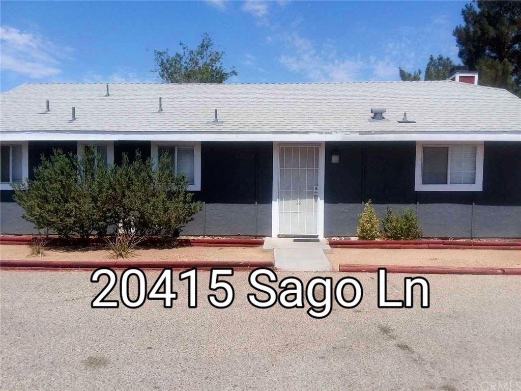 20415 Sago Lane, Apple Valley, CA 92307 - MLS#: EV21162760