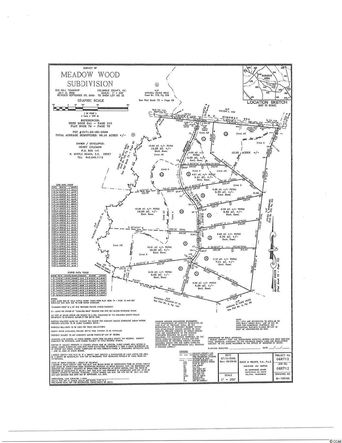 Lot  11 Clemmons Dr., Tabor City, SC, 28463, Meadow Wood Home For Sale