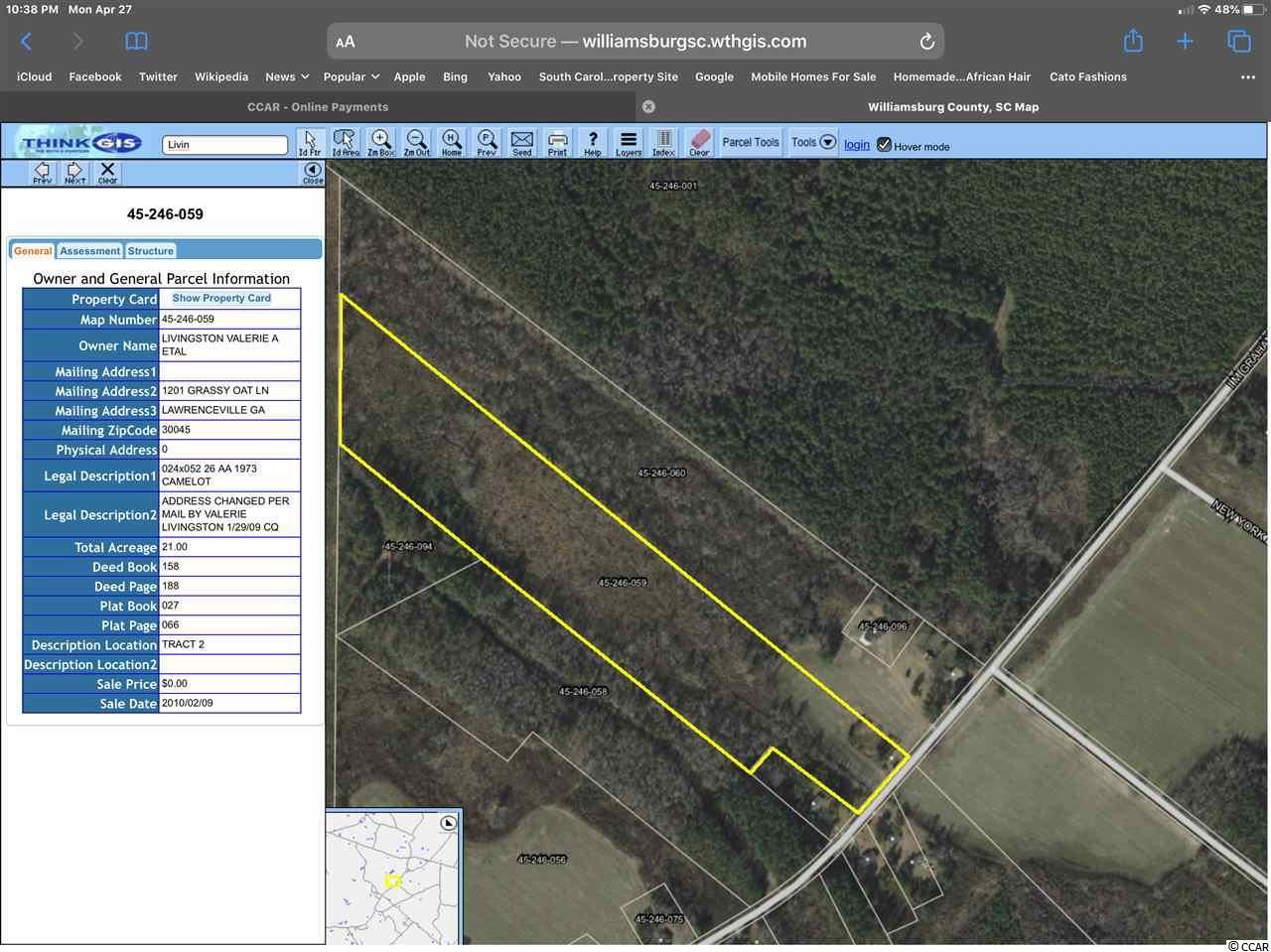2389 I M Graham Rd., Kingstree, SC, 29556, Not within a Subdivision Home For Sale
