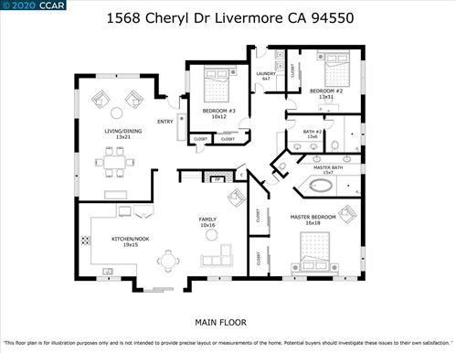 Tiny photo for 1568 Cheryl Dr, LIVERMORE, CA 94550 (MLS # 40910485)