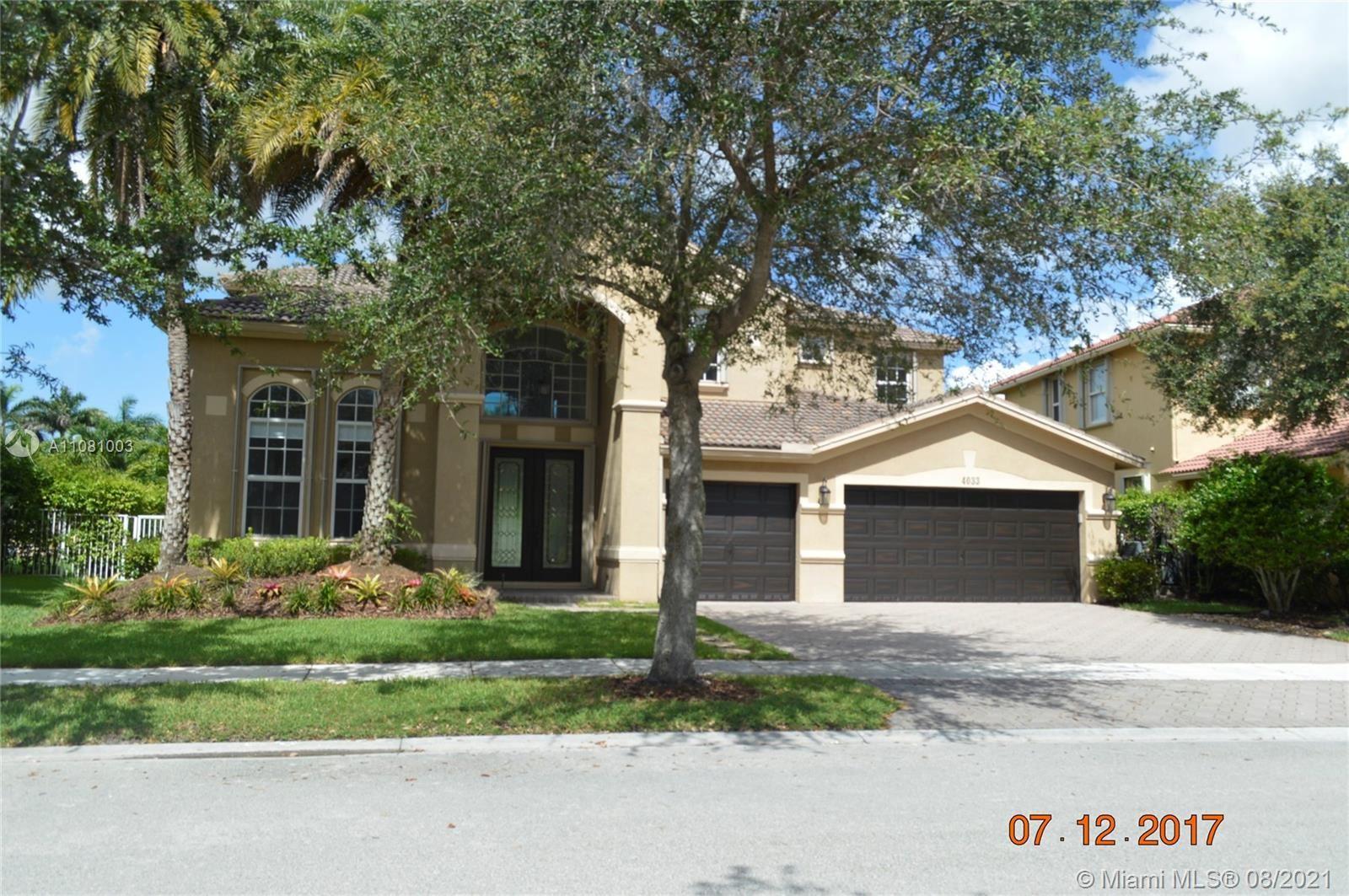 4033 W Gardenia Ave, Weston, FL 33332 - #: A11081003