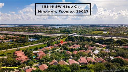 Photo of 15316 SW 43rd Ct, Miramar, FL 33027 (MLS # A11076110)