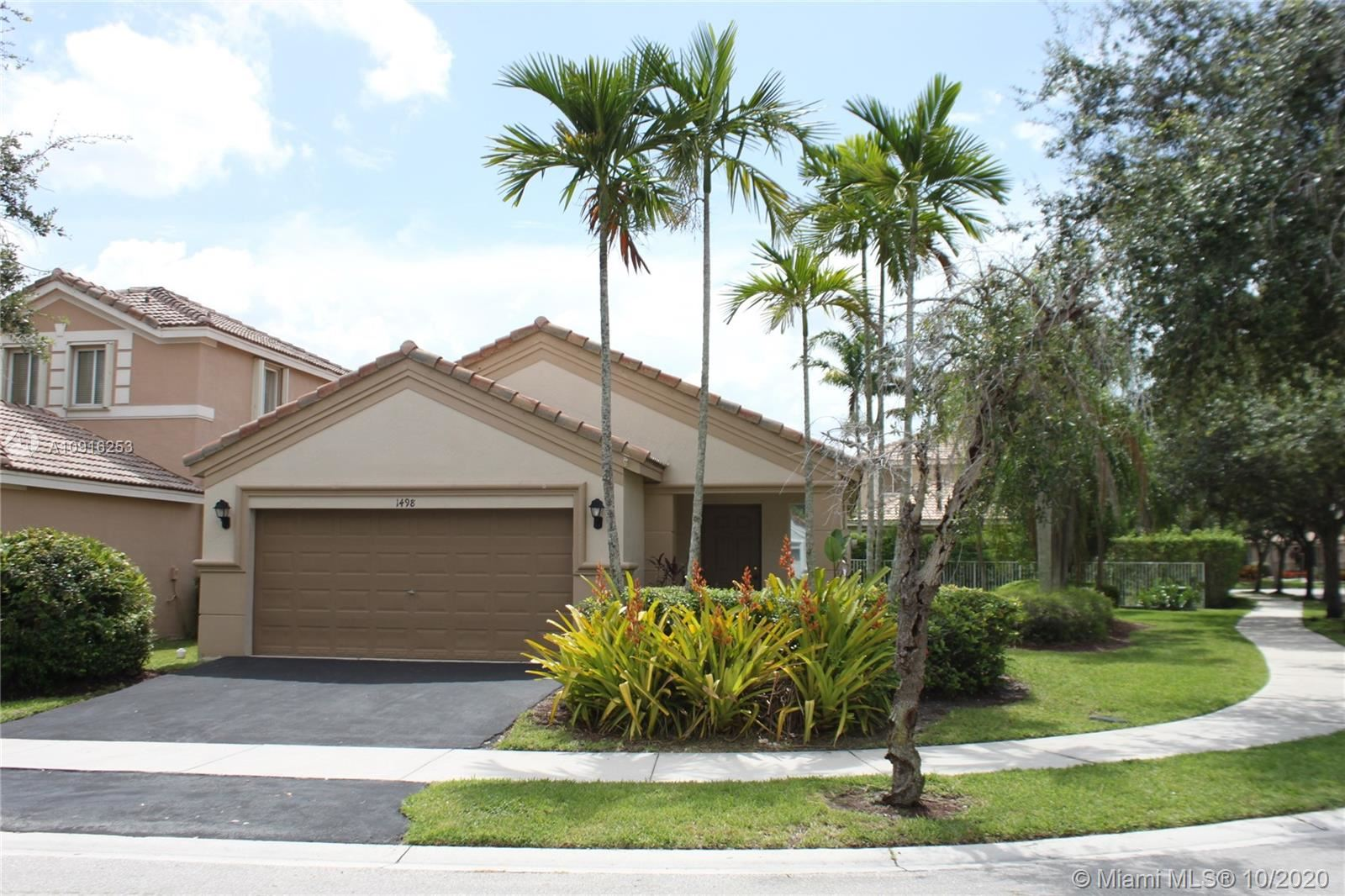 1498 Sunset Way, Weston, FL 33327 - #: A10916253