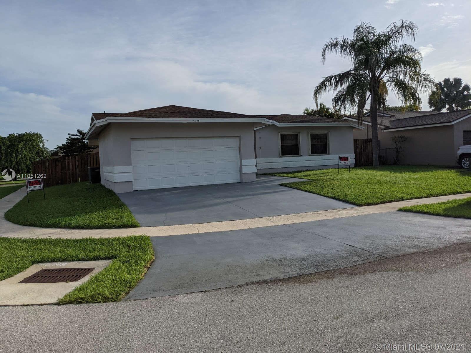 16675 SW 5th Way, Weston, FL 33326 - #: A11051262