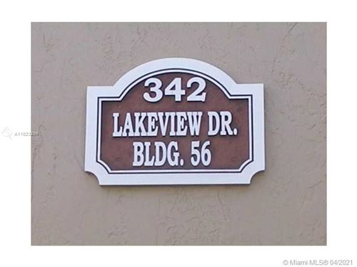 Photo of 342 Lakeview Dr #201, Weston, FL 33326 (MLS # A11023296)