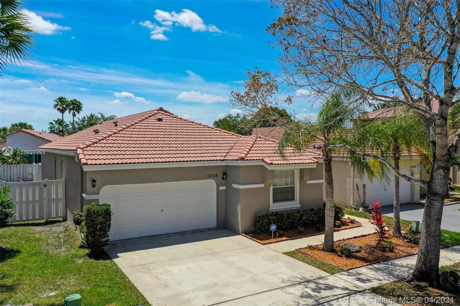 15726 NW 16th Ct, Pembroke Pines, FL 33028 - #: A11027298