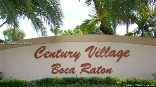 Photo of 252 Fanshaw F #252F, Boca Raton, FL 33434 (MLS # A11112308)