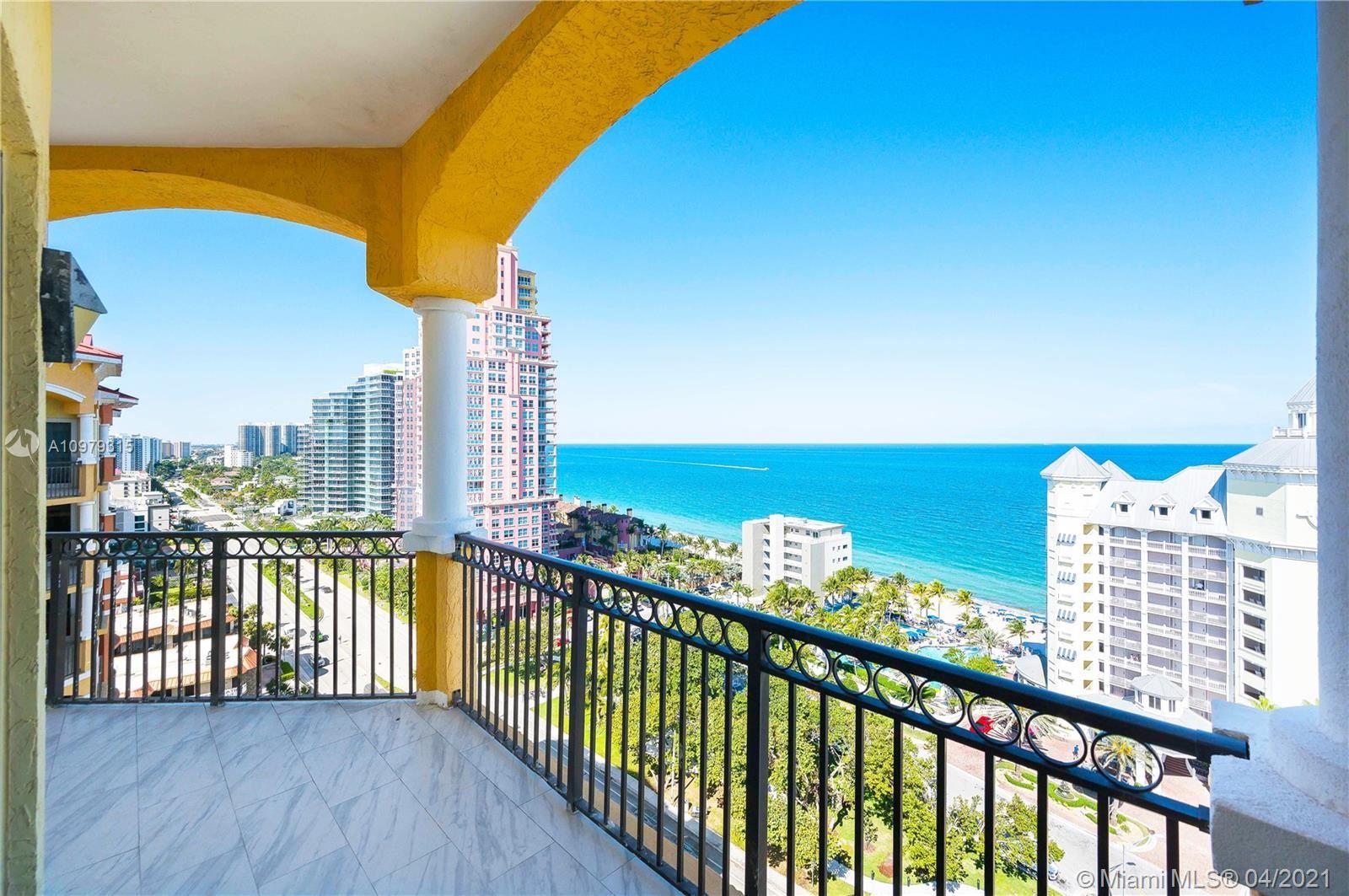 2001 N Ocean Blvd #1605, Fort Lauderdale, FL 33305 - #: A10979315