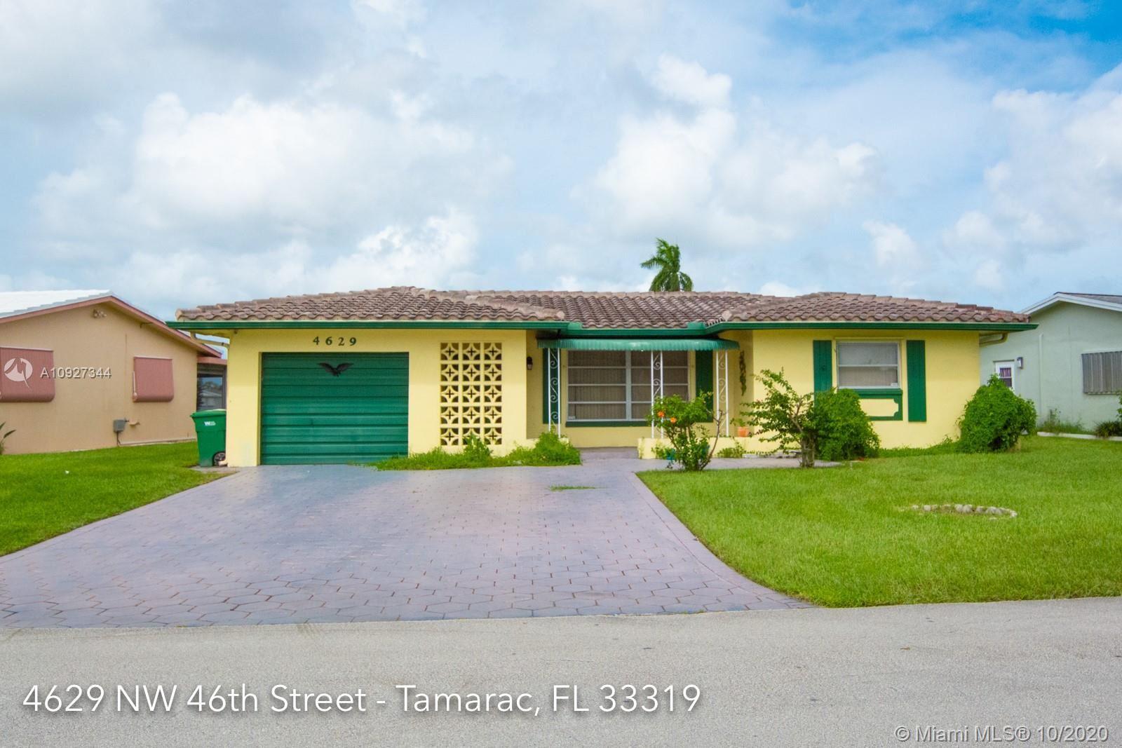 4629 NW 46th St, Tamarac, FL 33319 - #: A10927344