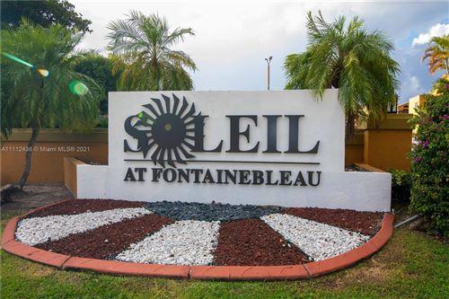 Photo of 9715 Fontainebleau Blvd #E312, Miami, FL 33172 (MLS # A11112436)