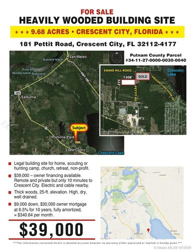 Photo of 181 PETTIT RD, Cresent City, FL 32112 (MLS # A10889445)