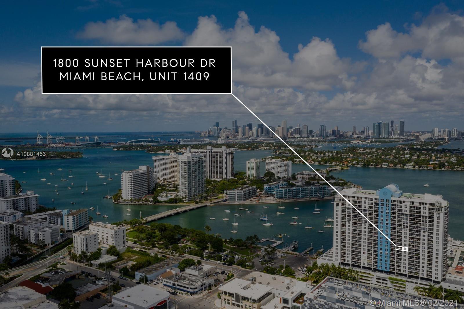 1800 Sunset Harbour Dr #1409, Miami Beach, FL 33139 - #: A10881453