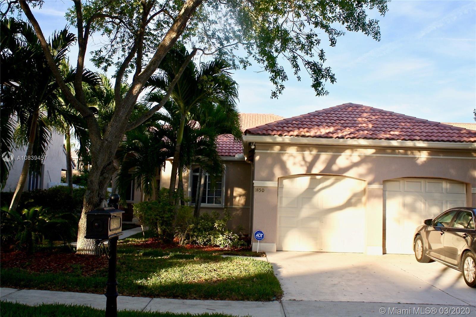 1450 Camellia Cir, Weston, FL 33326 - MLS#: A10839457