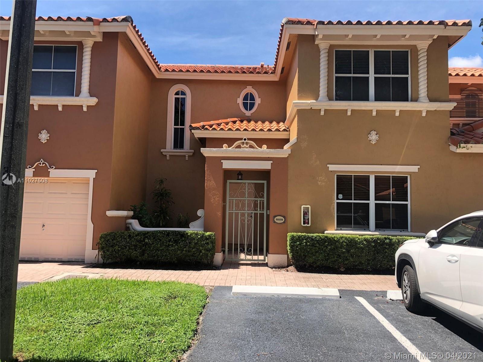8521 NW 138th Ter #1809, Miami Lakes, FL 33016 - #: A11027508