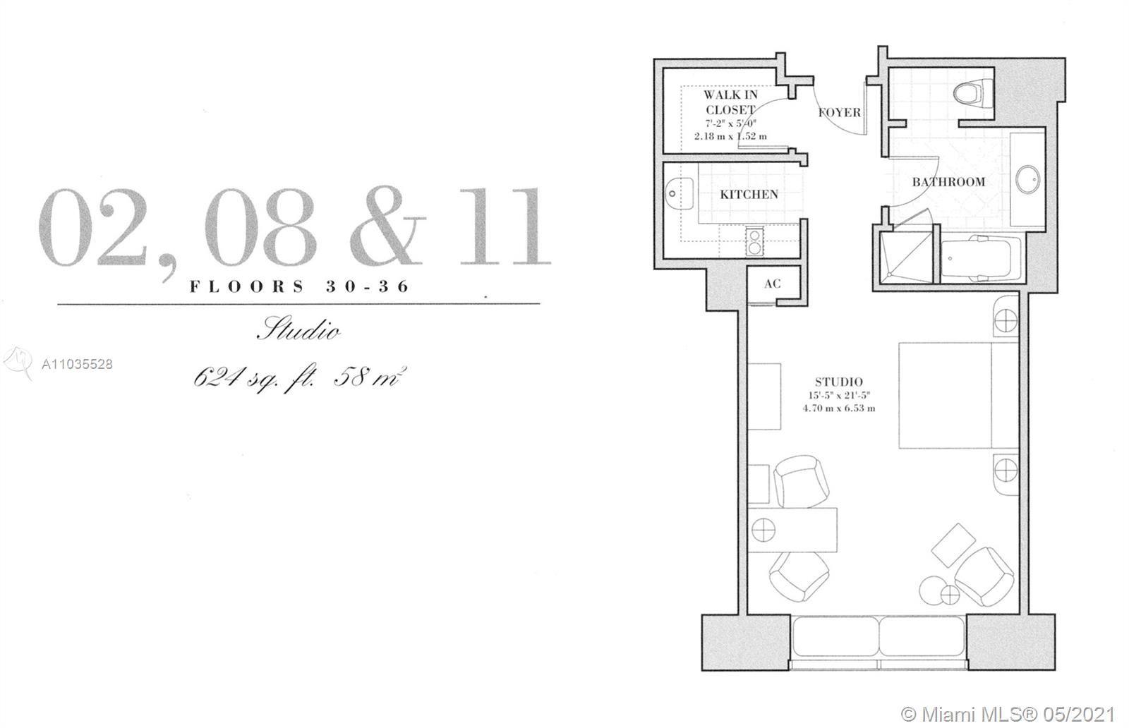 1435 Brickell Ave #3511, Miami, FL 33131 - #: A11035528