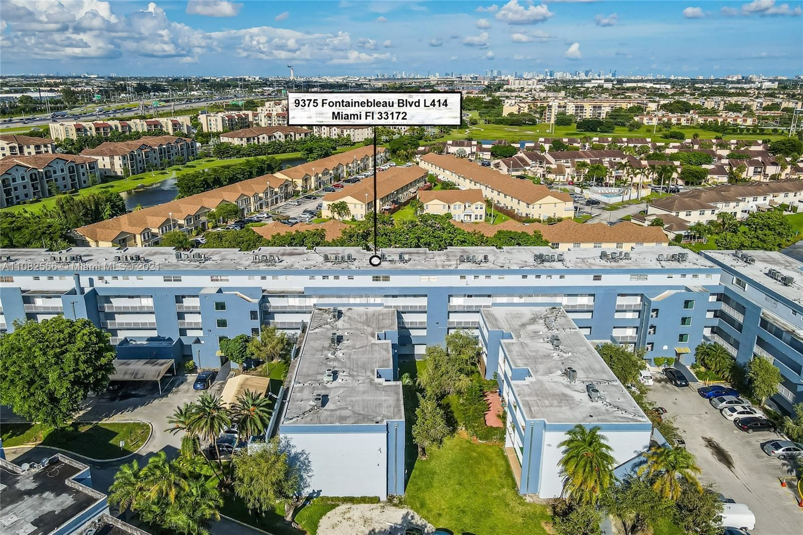 9375 Fontainebleau Blvd #L414, Miami, FL 33172 - #: A11082566