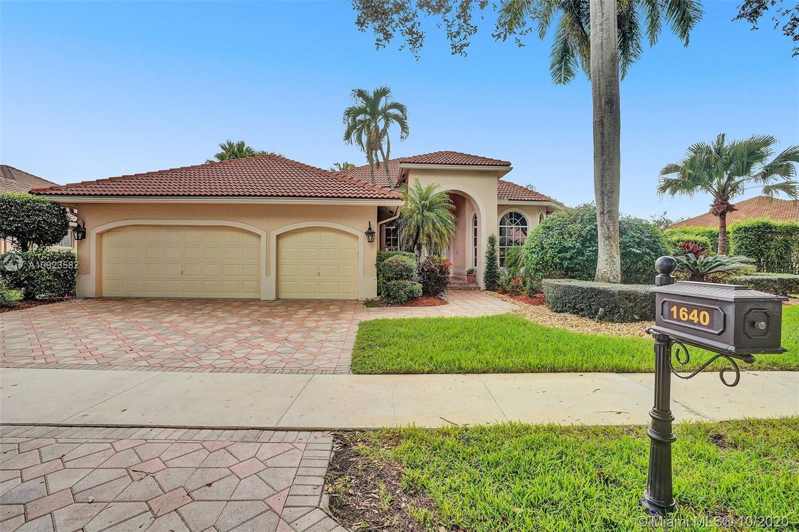 1640 Island Way, Weston, FL 33326 - #: A10923582