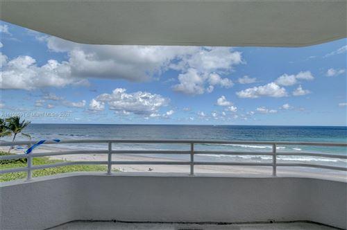 Photo of 3407 S Ocean Blvd #4A, Highland Beach, FL 33487 (MLS # A11108591)