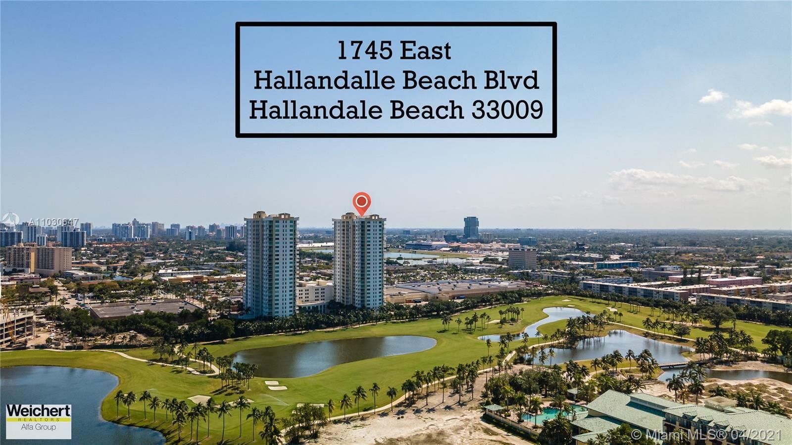 1745 E Hallandale Beach Blvd #1801W, Hallandale Beach, FL 33009 - #: A11030647