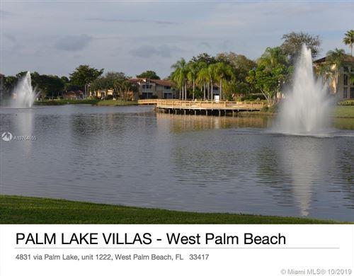 Photo of 4831 Via Palm Lks #1222, West Palm Beach, FL 33417 (MLS # A10764655)