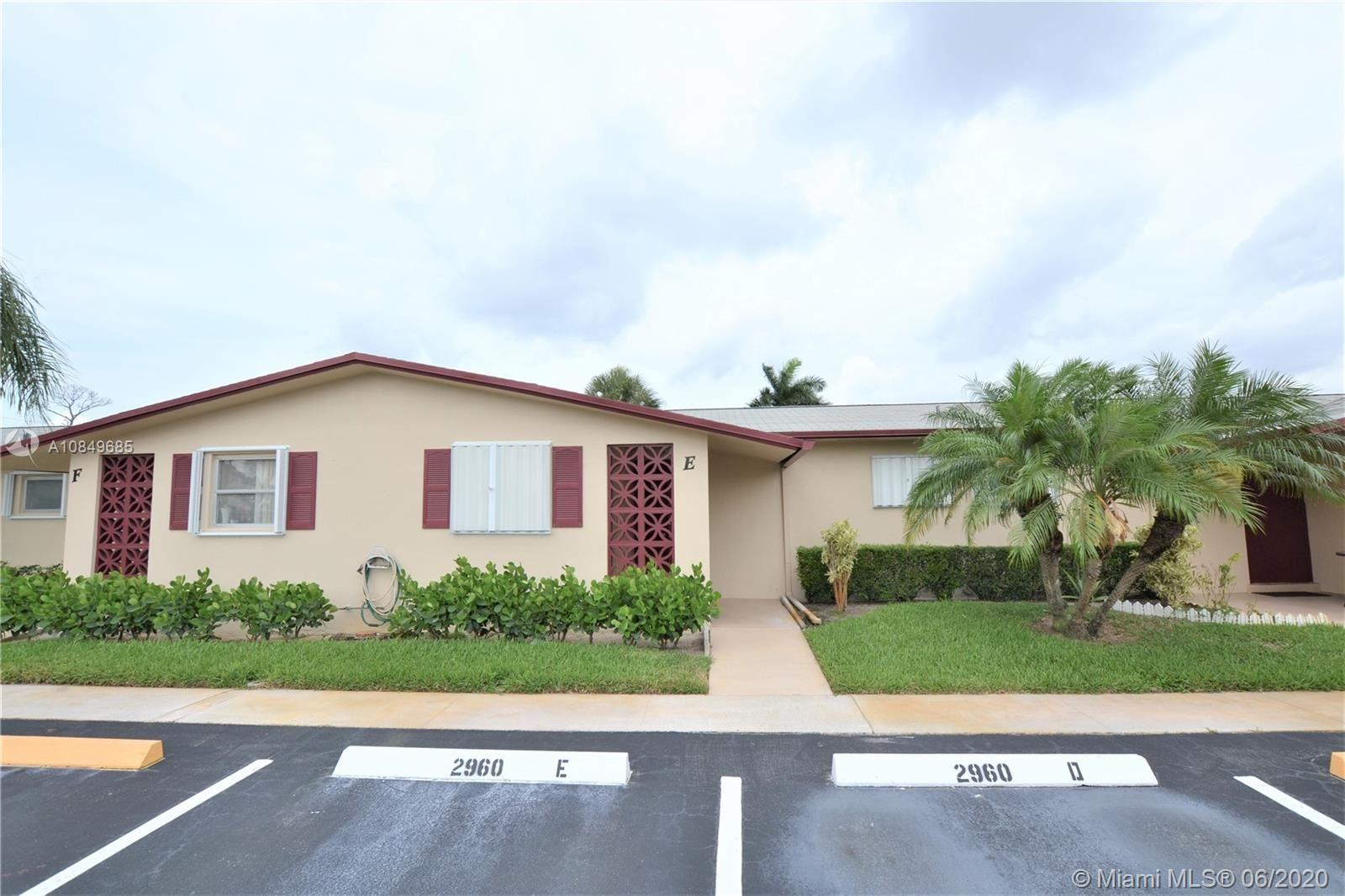 2960 Crosley Dr E #E, West Palm Beach, FL 33415 - #: A10849685