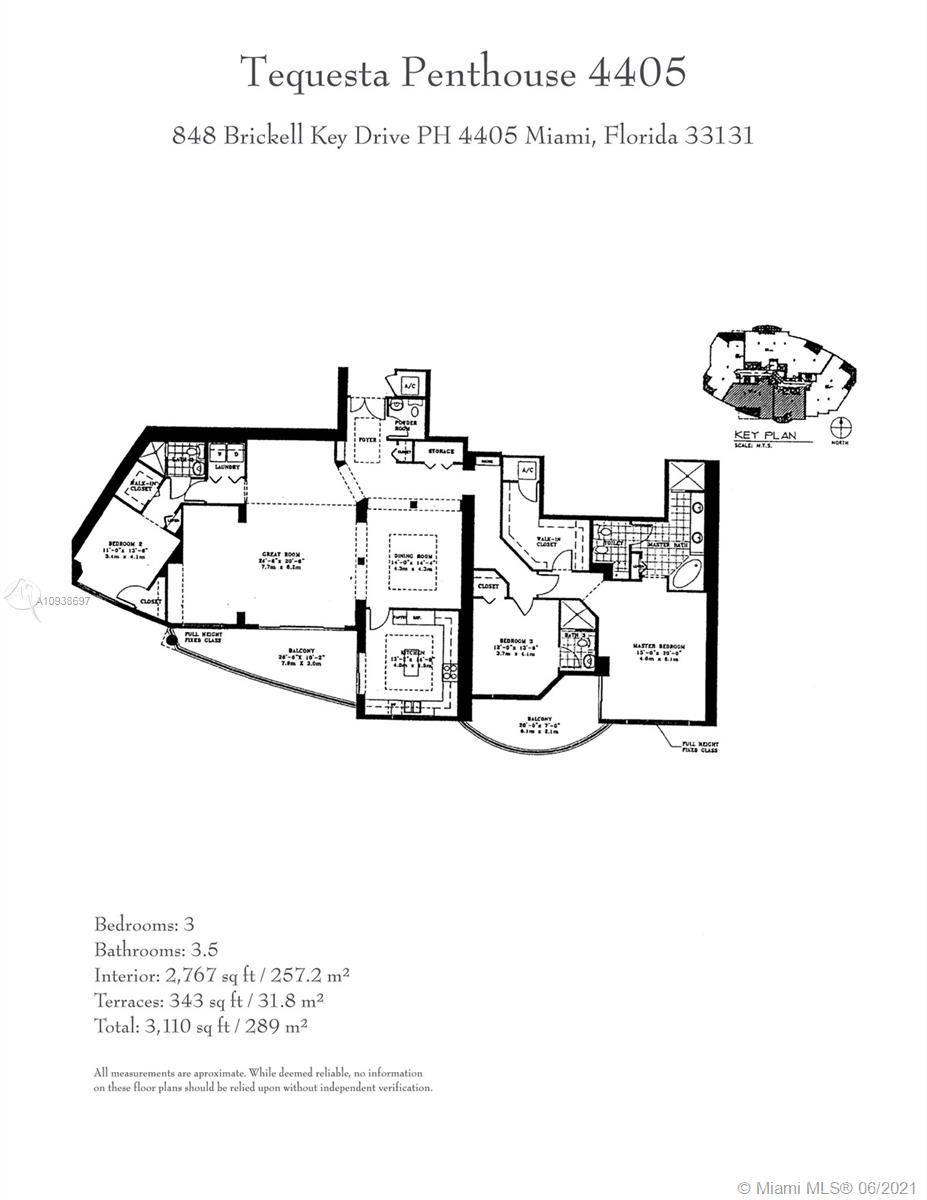 848 Brickell Key Dr #LPH4405, Miami, FL 33131 - #: A10938697