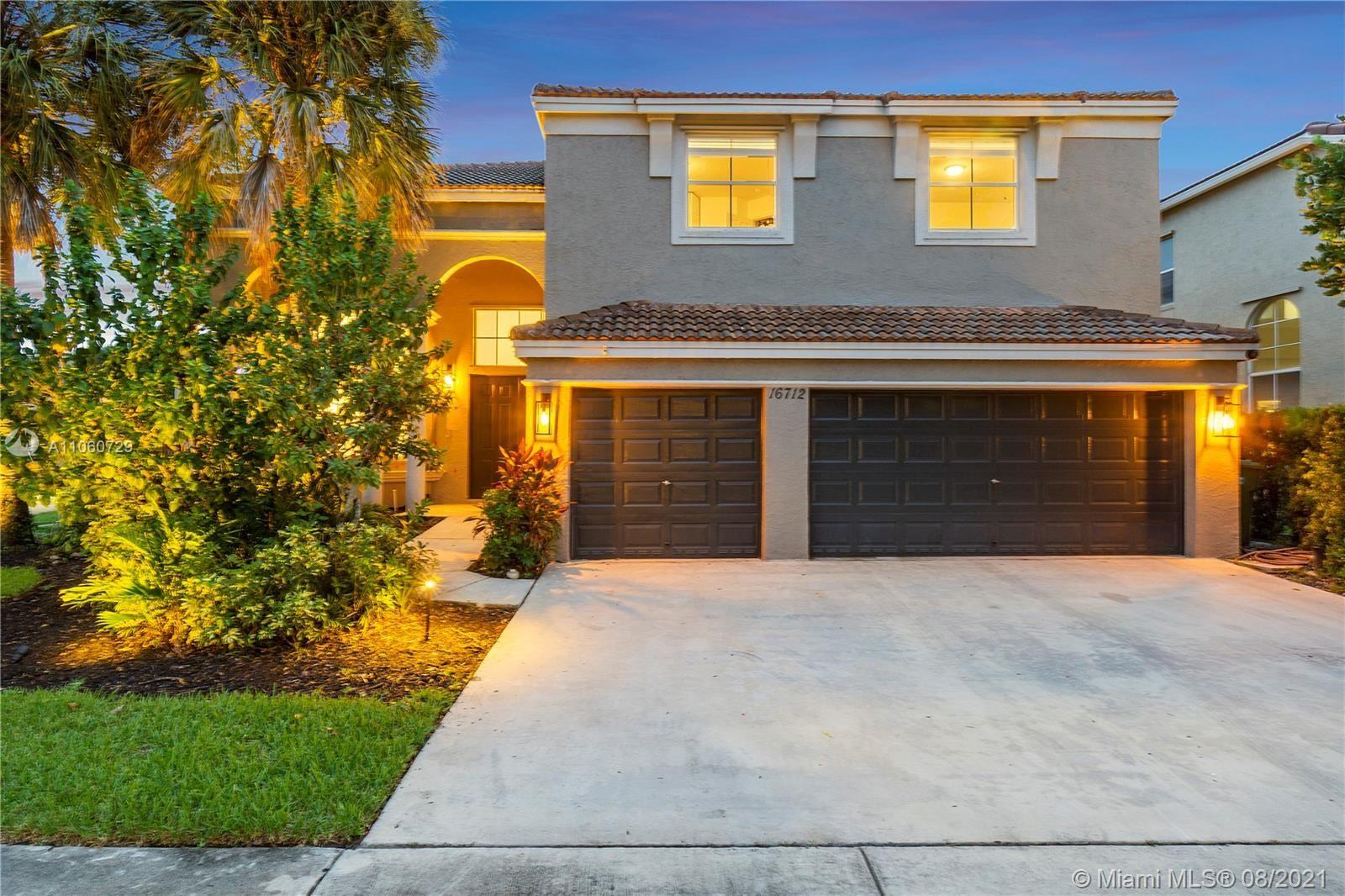 16712 SW 12th St, Pembroke Pines, FL 33027 - #: A11060729