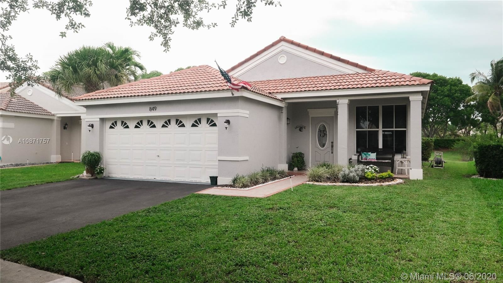 849 Sand Creek Circle, Weston, FL 33327 - #: A10871757
