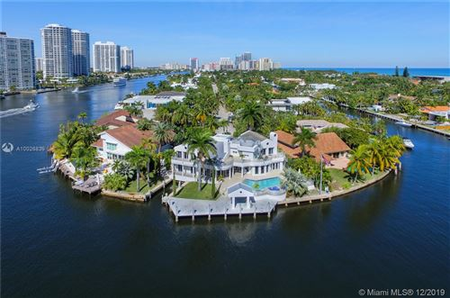 Photo of 349 Center Island Dr., Golden Beach, FL 33160 (MLS # A10026839)