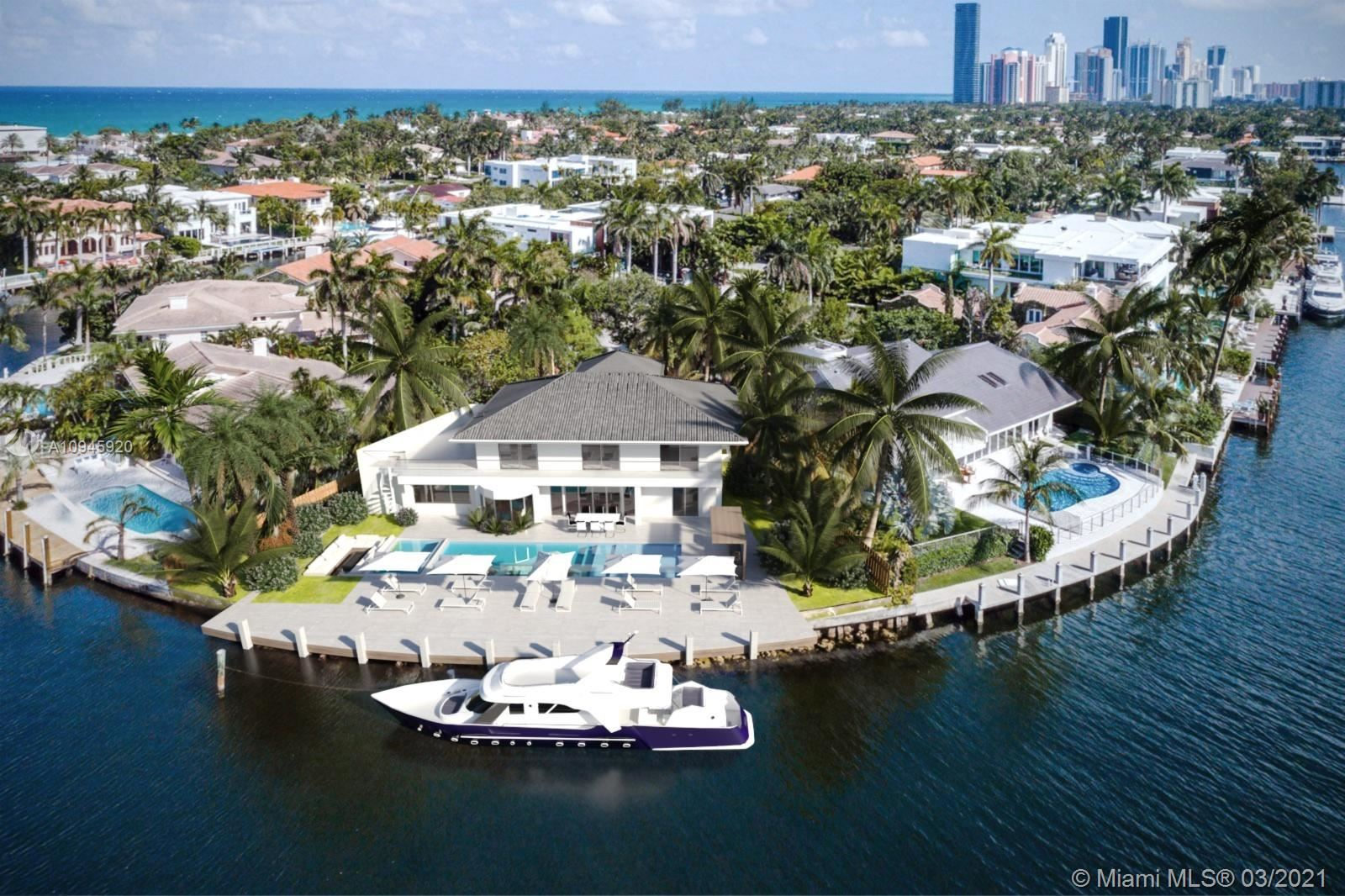 Photo of 447 Center Island Dr, Golden Beach, FL 33160 (MLS # A10945920)