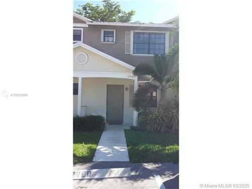 Photo of Listing MLS a10828980 in 1049 NW 107th Ave #1049 Pembroke Pines FL 33026