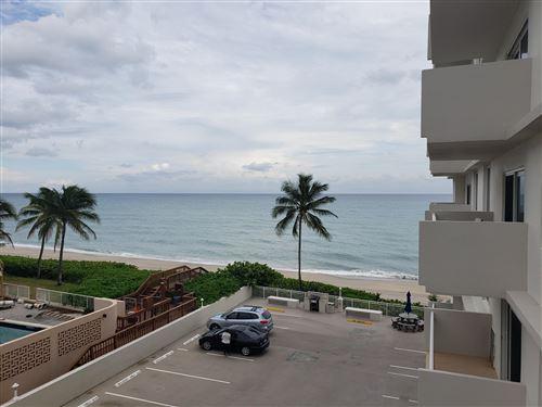 Photo of 3215 S Ocean Boulevard #308, Highland Beach, FL 33487 (MLS # RX-10685053)
