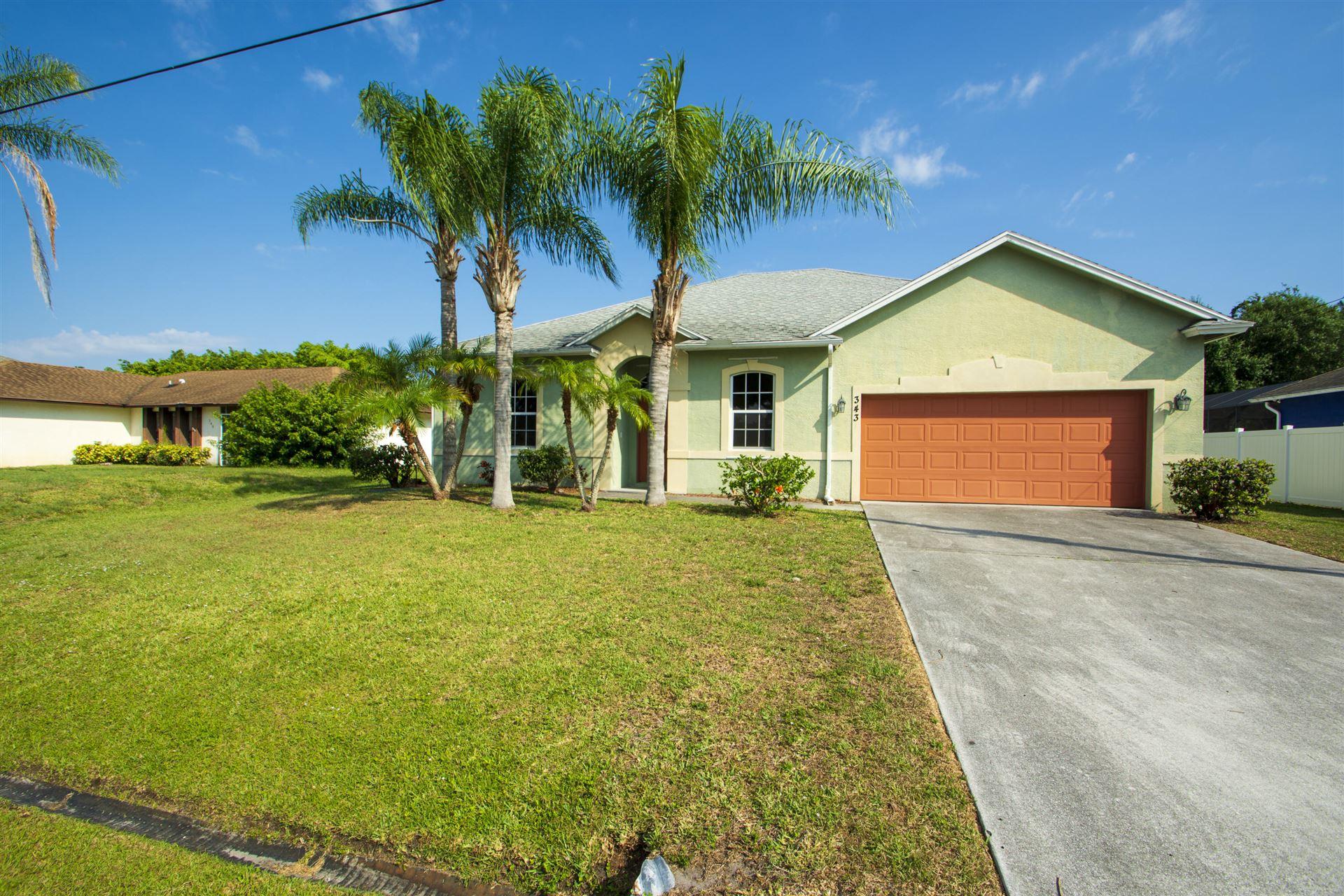 343 SW De Gouvea Terrace, Port Saint Lucie, FL 34984 - MLS#: RX-10714081