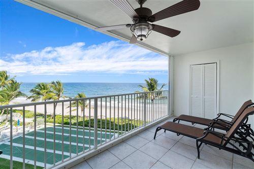 Photo of 3101 S Ocean Boulevard #402, Highland Beach, FL 33487 (MLS # RX-10663097)