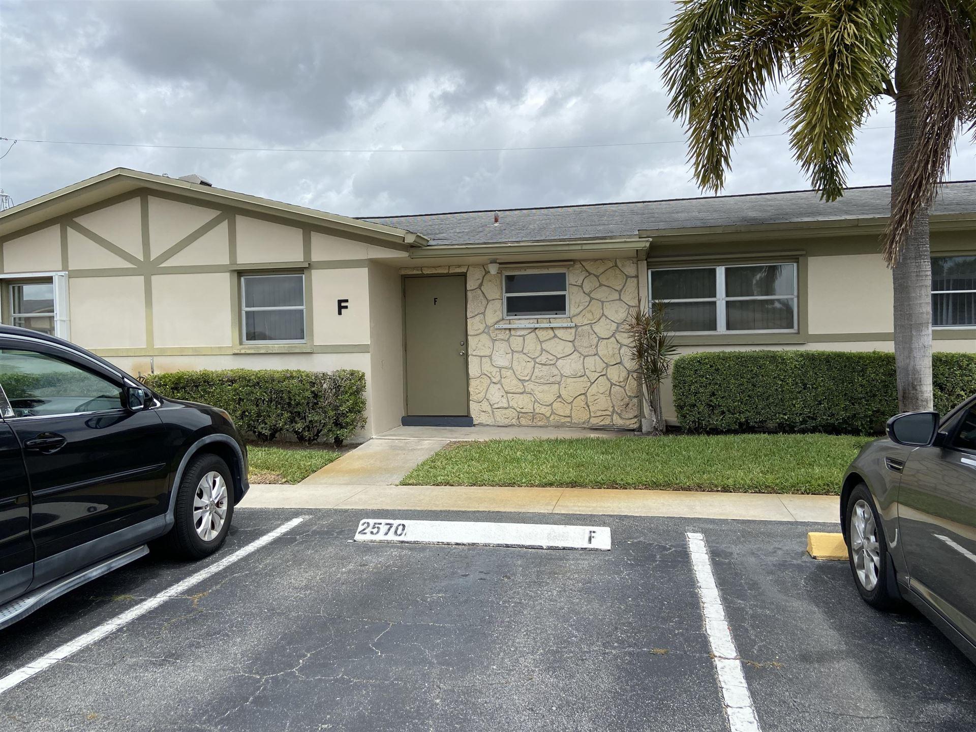 2570 Barkley Drive E #F, West Palm Beach, FL 33415 - MLS#: RX-10717105