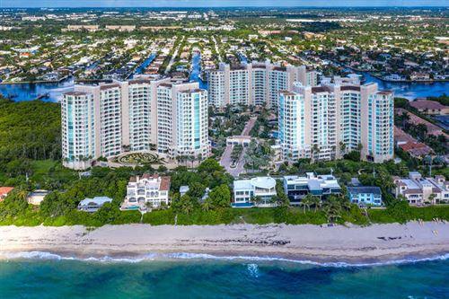 Photo of 3740 S Ocean Boulevard #508, Highland Beach, FL 33487 (MLS # RX-10653141)