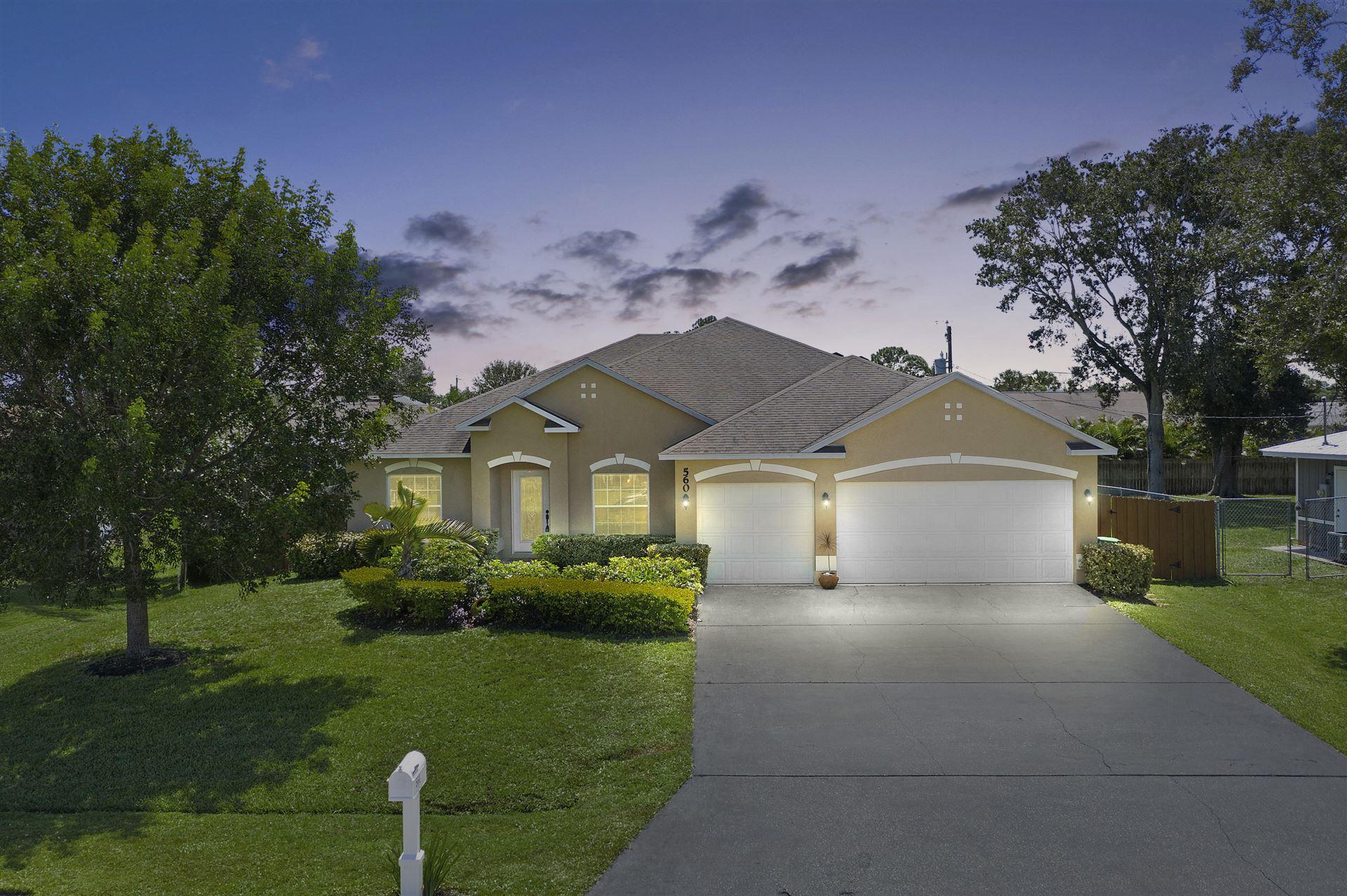 560 SW Ester Avenue, Port Saint Lucie, FL 34983 - #: RX-10653151