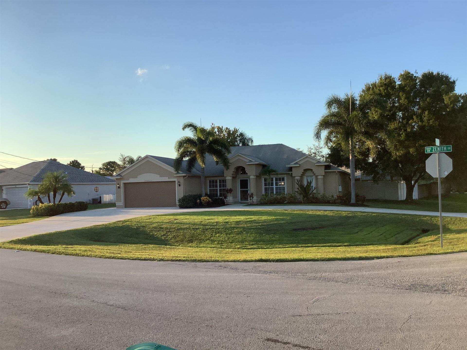 5802 NW Basswood Drive, Port Saint Lucie, FL 34986 - MLS#: RX-10749188