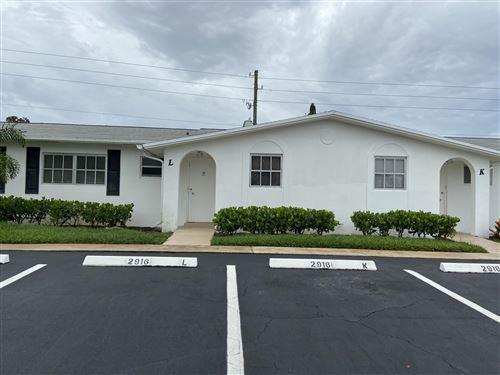 Photo of 2916 Crosley Drive E #L, West Palm Beach, FL 33415 (MLS # RX-10726253)