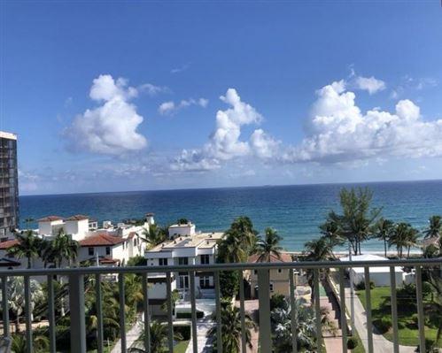 Photo of 3594 S Ocean Boulevard #803, Highland Beach, FL 33487 (MLS # RX-10636256)
