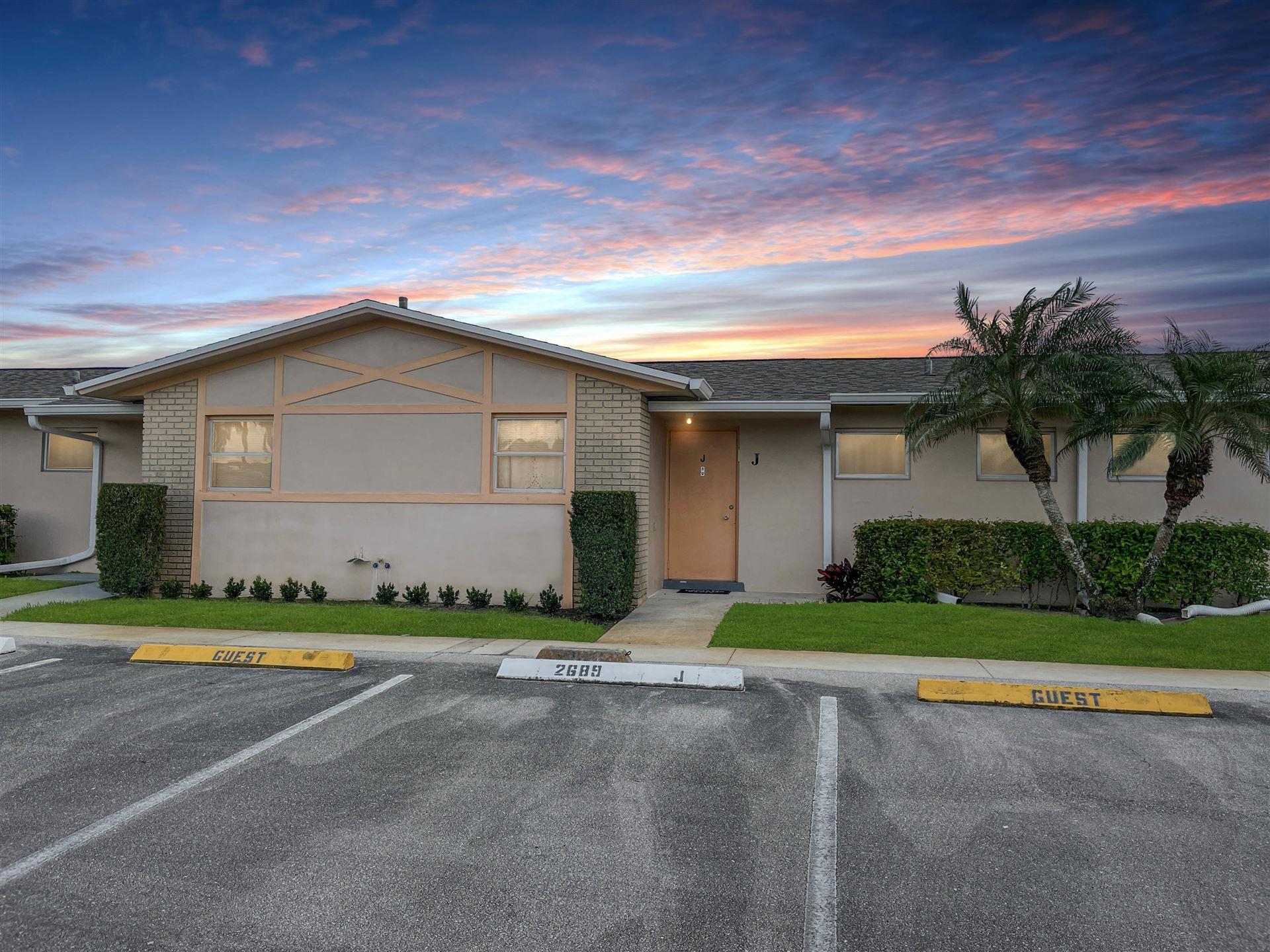 2689 Dudley Drive W #J, West Palm Beach, FL 33415 - MLS#: RX-10694292