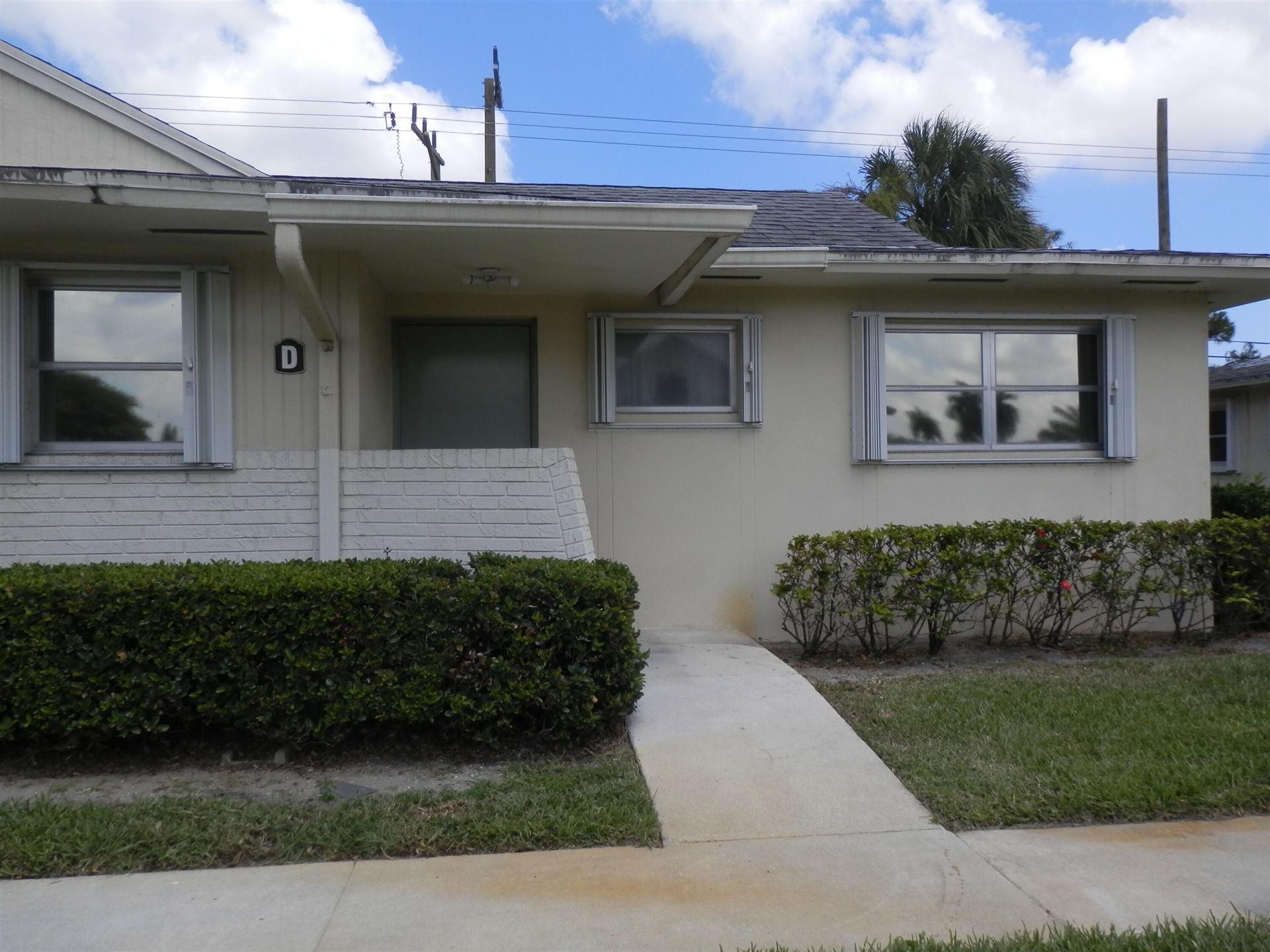 4790 Cresthaven Boulevard #D, West Palm Beach, FL 33415 - #: RX-10741307