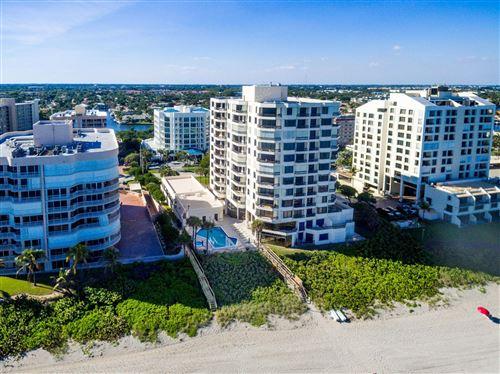 Photo of 3201 S Ocean Boulevard #403, Highland Beach, FL 33487 (MLS # RX-10658311)
