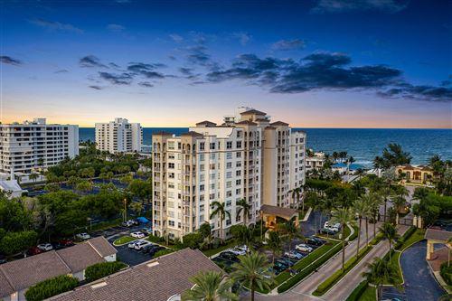 Photo of 3594 S Ocean Boulevard #802, Highland Beach, FL 33487 (MLS # RX-10667423)
